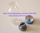 Black Flip off cap, aluminum plastic cap, Flip-off seal