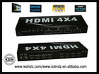 hdmi switch:Hdmi matrix router4*4 switch&splitter.