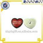 hello ketty lapel pin with heart shape