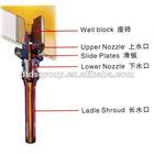 Refractory nozzle brick for ladle