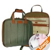 1680D coated EVA laptop briefcase with leather handle