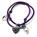 Heart shaped elastic charm bracelet