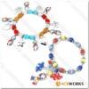 Autism Awareness Charm Bracelet, beaded bracelet, ribbon Bracelets