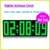 2012 Hot sale Large Screen Digital Clock Decorative Led Antique Wall Clock Display