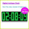 2012 Hot sale Large Screen Digital Clock Decorative Led Antique Wall Clock Display