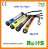 Hot sales!!! 2012 new design indoor and outdoor used rechargeable led waterproof hand mini solar flashlight CE,ROSH