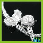 plate silver 925 copper beaded bracelet for big hole beads JR16#