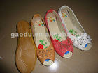 2012 fashionable and comfortable design of lady flat shoes with exquisite flowers or beads