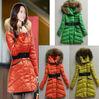 Ladies fur hooded down jacket