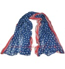 American flag scarf Bali yarn scarves us flag scarf