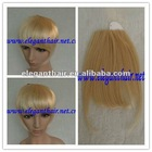 Wholesale price grade AAA blonde color 100% human hair bangsfringes