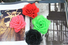 Colorful chiffon lace flower