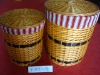 laundry basket, 3pcs/set for clothing with different color of fabric WBL-13020