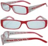 plastic fashion design cheap Reading glasses with spring