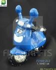 Resin toy motorcycle aquarium ornament