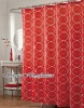 Printed red circles polyester shower curtains