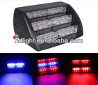 Vehicle Car Truck 18 LED Emergency Safty Flash Dash Strobe Light RED / BLUE Fashionable Deck Lamp