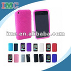 Hot Pink Textured Silicone Skin Soft Cover Case for Apple iPhone 3G 3GS (IMC-TOIPH-0267)