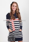 MISTIC 2012 autumn new arrival stripe long-sleeve slim sweet women's pullover sweater set sweater
