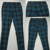 2012 newest lady's fancy check spandex pants