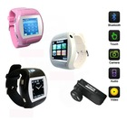GSM quad band watch mobile phone with camera