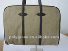 (own tannery for ourself)classical cavas and leather women's laptop handbag