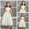 Best Selling Bow Belt Custom Made Flower Girl Dress