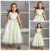 Best Selling Bow Belt Custom Made Flower Girl Dress