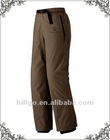 Men's 100%nylon brown waterproof alpine climbing pants