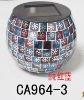 Solar Mosaic Jar for Christmas