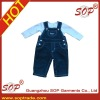 Hot sale lovely boys overall with t-shirt