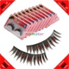 Cheap! 10 Pairs Synthetic Fiber Rhinestone False Fake Eyelashes+Glue