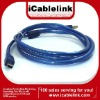 USB 2.0 BLUE with basketwork USB A male to MINI 5PIN cable 1.5M