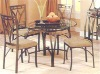 indoor wrought iron table and chairs