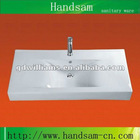 ceramic washbasin above mounting