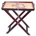 Hot sell folding wood tray table-assembled