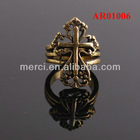 Gold Ring Designs for Men Golden Nanometer Protection Ring Fashion Jewelry