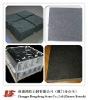 high quality Chinese black granite half slab