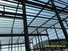 The project of steel structure workshop under construction