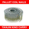 Green Painted Spiral Shank Pallet Coil Nail