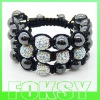 2012 newest Shamballa bracelet with shining crystal ball