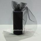 100% Black nylon/polyester hard tulle roll 6inch*25/50/100yards