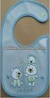 SG-4412-High Quality Plain Blue Cute Design Baby Bib