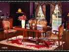 classical latest designs of dining tables FA828-B 1.8M