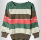 knit round collar loose woman sweater