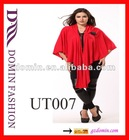 Hot selling cotton with red knitted sweater Lady's tops with long cardigan , Plus Size
