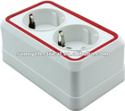 european standard DOUBLE 2 PIN GERMAN SOCKET WITH EARTH