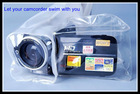 Waterproof case for camcorder in water sports