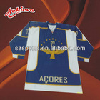 custom sublimated ice hockey shirts with 100% polyester
