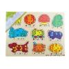 Yunhe wooden toys puzzles (count puzzles)